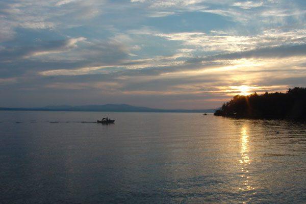 Sebago Lake at sunset